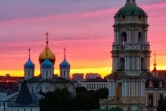 Закат. Москва, Новоспасский монастырь.